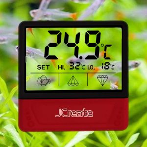 Jcreate Fish Tank Thermometer, Touch Screen Digital Aquarium Thermometer with LCD Display, Stick-on Temperature Sensor ensures Optimum Temperature in Terrarium, for Your pet Amphibians and Reptile