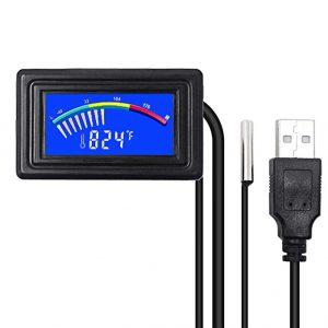 Ketotek Digital Thermometer Temperature Meter Gauge Waterproof Sensor Probe Aquarium Car PC case Power Bank Temp Meter