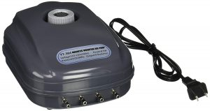 Sun YT-304 18 LPM Aquarium Air Pump with 4 Outlets, 8.5W, 120 Gallon