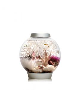 Biorb Classic 15 Aquarium with LED Light – 4 Gallon, Silver