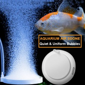 Kasqa Air Stone Aquarium Bubbler Fish Tank Aerator Bubbler Quiet Durable For Hydroponics Koi Pond Oxygen Diffuser